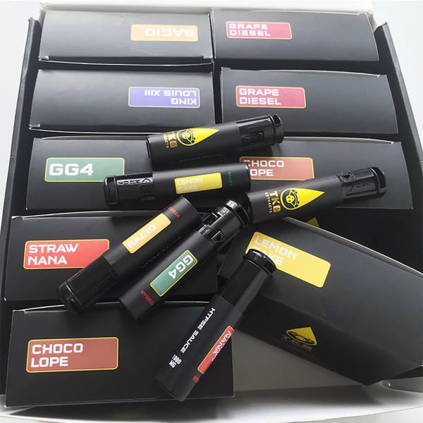 7 cartouches vides de stylo de vape de la cartouche TKO de 0.8ml cartouches en céramique de la bouteille de 1ml empaquetant le chariot de vaporisateur de batterie de la cigarette 510 de fil