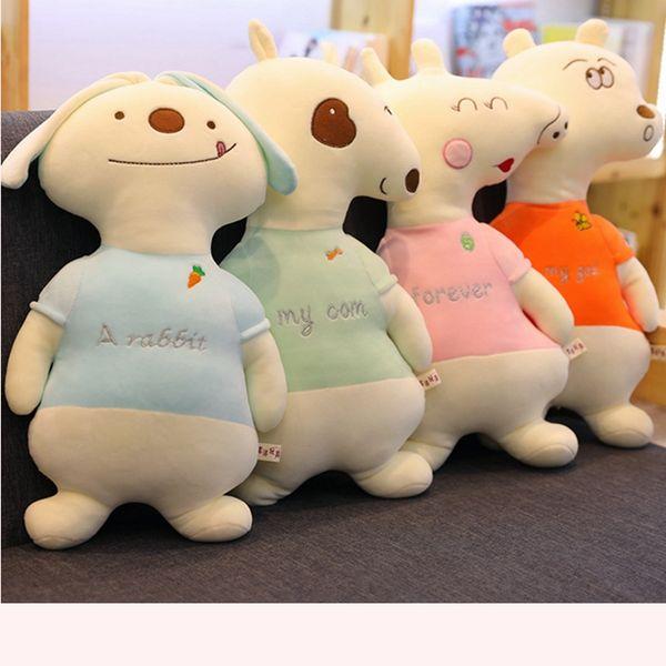 45cm/60cm High Quality Funny Dog&Bear Plush Pillow Cartoon Animal Piggy&Rabbit Stuffed Doll Sofa Chair Cushion Toy Friends Gifts