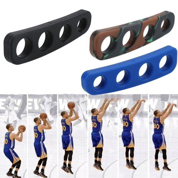 1pcs 3 Colors Silicone Shot Lock Basketball Ball Shooting Trainer Training Accessories Three-Point Size for Kids Adult Man Teens #15147
