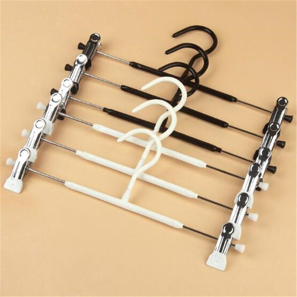 Metal Clothes Hangers White Black Clip Stand Hanger Pants Skirt Kid Adult Clothing Anti-skidding Free Shipping
