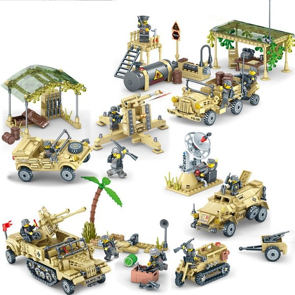 Segunda guerra mundial águia série blocos de construção de inteligência das crianças brinquedo educativo diy brinquedos ww2 brinquedo tijolos