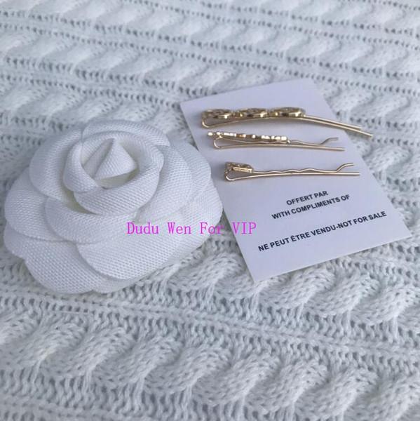 Satz von 3 PC-Metallhaarnadel Weinleseart-Modedesignerhaarspangen-Papierkarte VIP-Geschenkmodesymbol-Haar asscessories