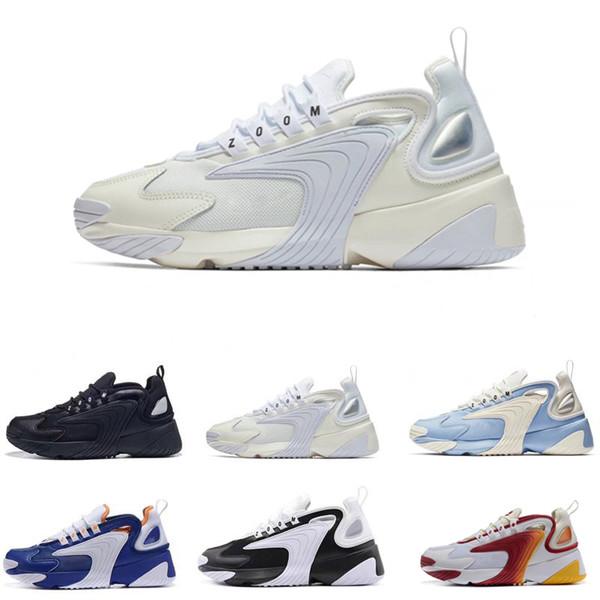 Compre Nike M2k Tekno Zoom 2K Hombres Zapatillas De Baloncesto 2000 Negro Vela Blanco Naranja Azul Marino Diseñador De Buena Calidad Zapatos