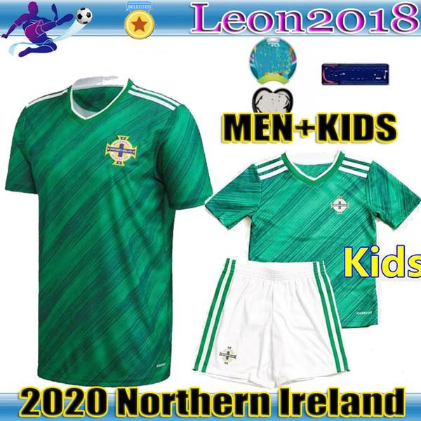 Hombres Niños 2020 Irlanda del Norte fútbol casero Jersey EVANS LEWIS Saville camisetas de fútbol de la camisa Uniformes adultos