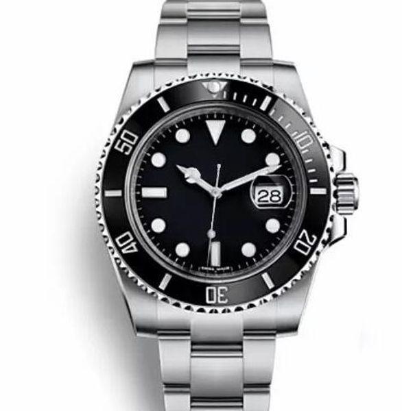 Верхняя часть Керамическая рамка Мужская Механическая нержавеющая сталь Автоматические часы 2813 Механические часы Спортивные часы Часы с автоподзаводом Светящиеся наручные часы
