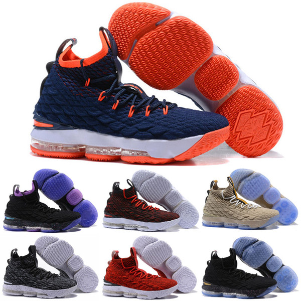 online retailer 87643 193c5 Cheap New Men Kith X Lebron 15 Diamond Turf Low Tops Kids Basketball Shoes  Bred Black Red White Gold Christmas Sneakers Kids White Athletic Shoes ...