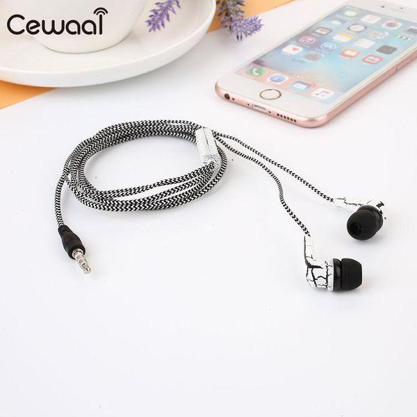 3,5 mm Geflochtene Wired In Ear Schwere Bässe Sound Kopfhörer Kopfhörer mit Mikrofon