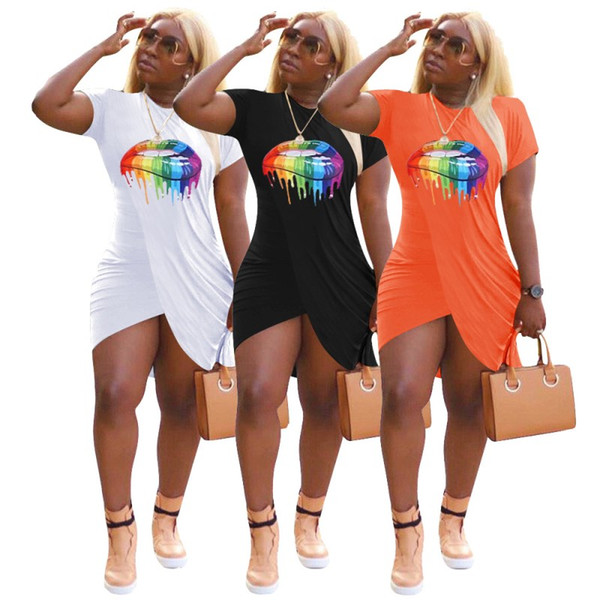 womens one piece dress short sleeve summer skirt designer above_knee high quality bodycon dress elegant luxury clubwear hot selling klw1702