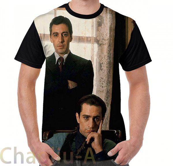 Compre The Godfather Al Pacino Robert De Niro Camiseta De Los Hombres Camiseta Impresa Divertida Tops De Las Mujeres Camisetas De Manga Corta Casual A