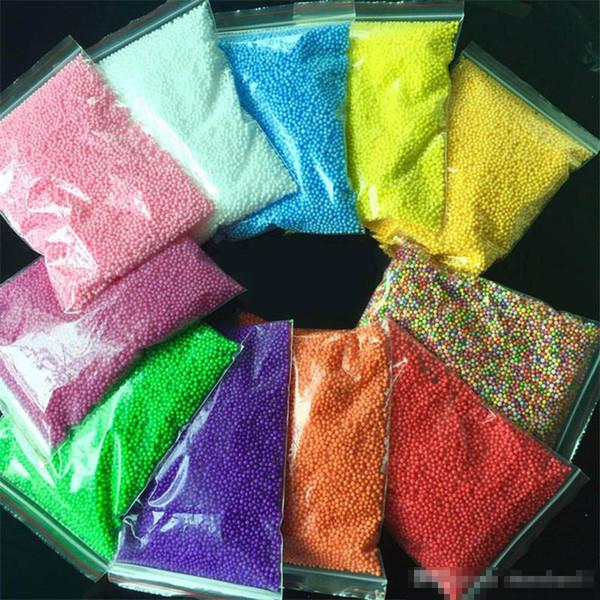 24 renkler Inci Kar Çamur Kabarık Balçık Stres Giderici Çocuk Oyuncakları Floam Balçık El tutam Kauçuk çamur 20 g / torba karışık Çocuklar B11