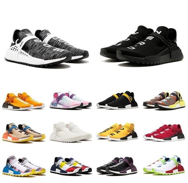 2019 человеческая раса Hu trail pharrell williams мужчины кроссовки ботаник черный синий женщины мужские тренеры мода спорт бегун кроссовки открытый обуви