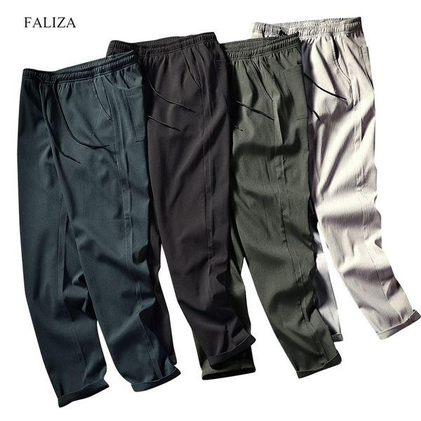 FALIZA 2019 New Mens Haren Pants For Male Casual Sweatpants Hip Hop Pants Streetwear Trousers Men Track Joggers Man Trouser PA15