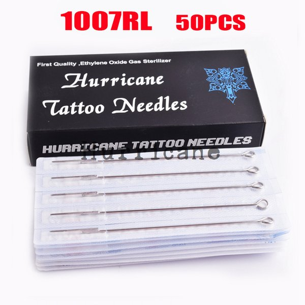 professional 50PCS Professional 7RL Disposable Sterilze Tatoo 7 Round Liner Needles To Tattoo Supplies Free Shipping