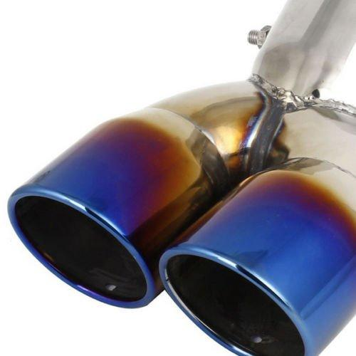 Stainless Steel Car Auto Rear Slant Cut Trim Dual Exhaust Pipe Tail Muffler Tip