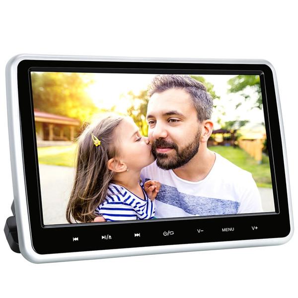 Citrouille 10,1 pouces 1024 * 600 voitures DVD Moniteur vidéo Têtière Lecteur USB / SD / HDMI / FM TFT Bouton écran LCD tactile Jeu Télécommande