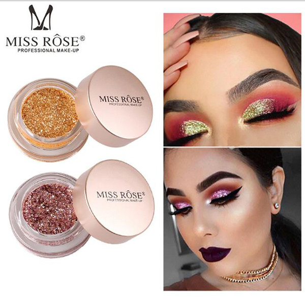 top popular MISS ROSE 10 Colors Eye Makeup Matte Glitter Luminous EyeShadow Diamond Shimmer Eye Primer Luminous Eye Shadow Women Gift dhl free shipping 2020