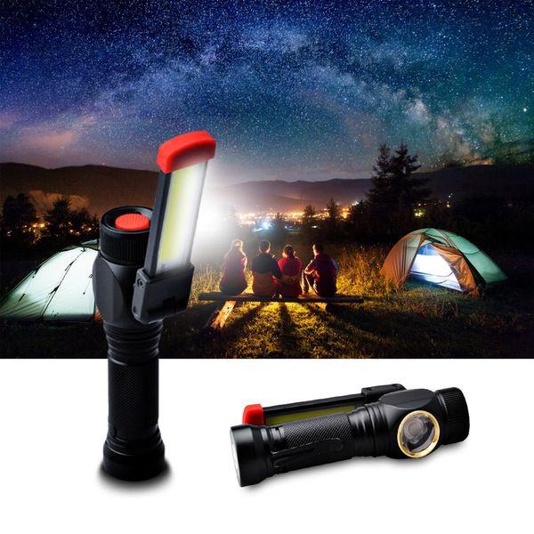 10w COB LED Work Light Mini Pen Light Work Inspection Pocket Flashlight Torch T6 Lamp USB Rechargeable With Bottom Magnet Clip