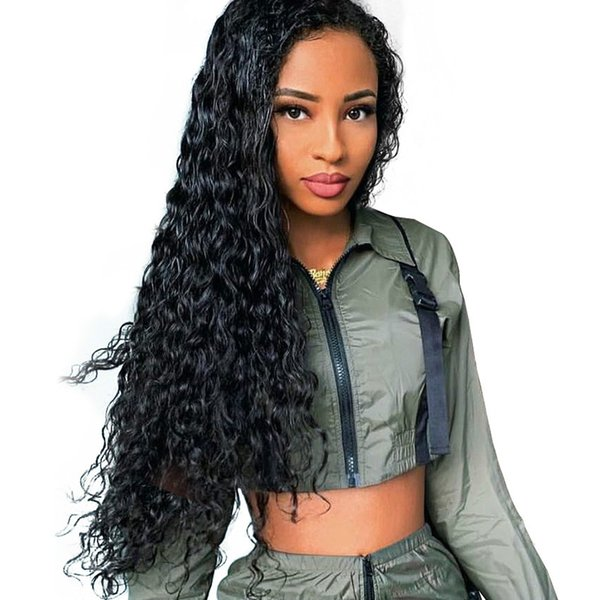 water wave wig 13x6 lace front human hair wigs 360 lace frontal wig pre plucked 250 density brazilian human hair wig recool