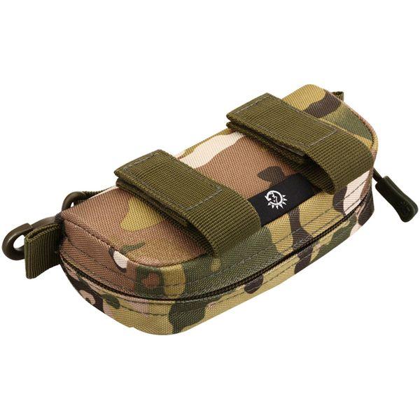 Waterproof Camouflage Zipper Travel Nylon Lightweight Multifunctional Outdoor Pouch Purse Carry Box Waist Belt Pack Glasses Bag