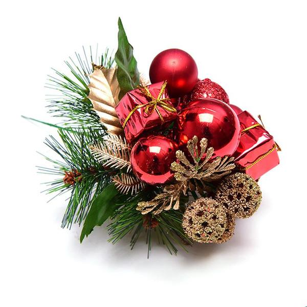Artificielle Pip Berry Picks Fruit Fleur de Noël Étamines Choisissez Glitter Boule Boîte cadeau artificielle Pin Choisissez Décoration de Noël