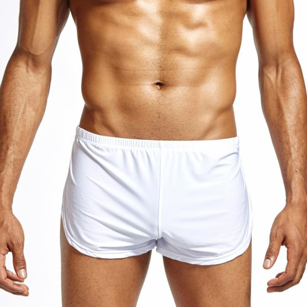 Ice Silk Lounge Spandex Trunks Men's Trunks Sexy Panties Men Boxers Shorts Home Sleepwear Gay underwear