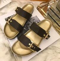 Haut Sandales avec Dust Bag Designer Chaussures imprimé serpent luxe Slide Summer Fashion Wide Sandales plates Slipper 0098