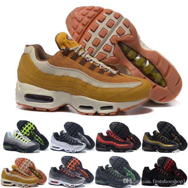 nike air max 95 airmax Drop Shipping En Gros Chaussures De Course Hommes Coussin OG Sneakers Bottes Authentique Nouveau Marche Discount Chaussures De Sport Taille 36-46