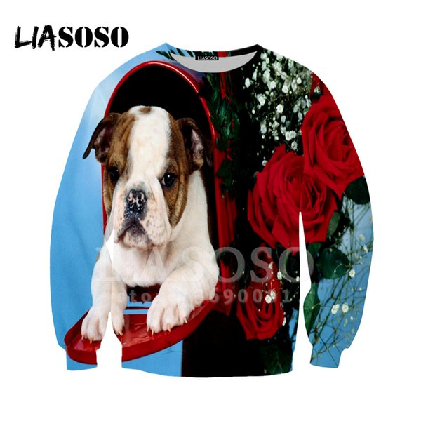 LIASOSO 2019 New Mens Wear 3d Print sweathirts men women Flower Streetwear Pullover Tracksuit Unisex Fashion Casual Clothing Top