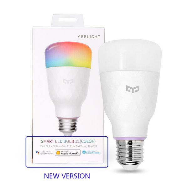 Bulbo original Xiaomi Youpin LED inteligente Yeelight 1S colorido de la lámpara 10W E27 800 lúmenes de control por voz para Xiaomi inteligente lámpara de Google Asistente 300