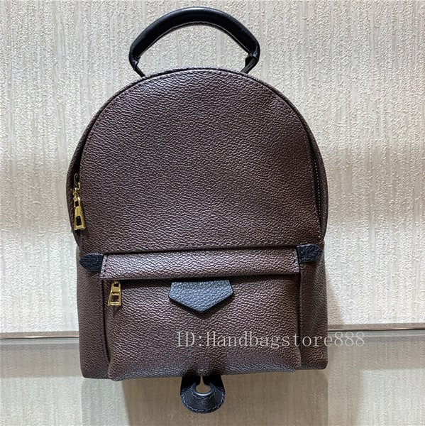 Fashion women High quality Palm Springs Backpack ladies Mini genuine leather backpack lady printing leather bag 41562 size:18x16x9cm