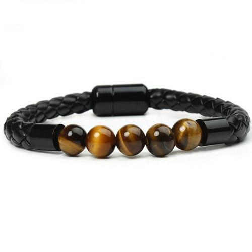 lava rosary men energy elastic rope bangles 8mm tiger eye bead natural stone yoga bracelet for women christmas jewellery