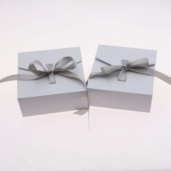 Nuovo di squisita esposizione dei monili di bowknot e scatola di scatola di scatola di imballaggio, contenitore di monili elegante degli orecchini