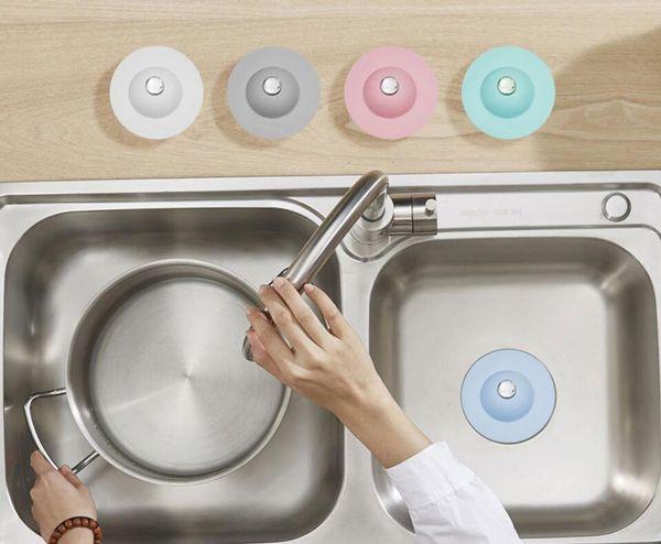 top popular Bathroom Drain Hair Catcher Bath Stopper Plug Sink Strainer Filter Shower Covers 2021