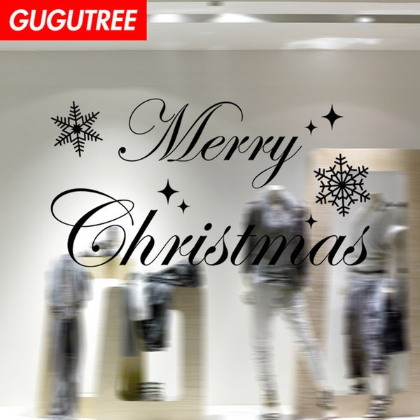 Decorate Home merry christmas new year art wall sticker decoration Decals mural painting Removable Decor Wallpaper G-1231
