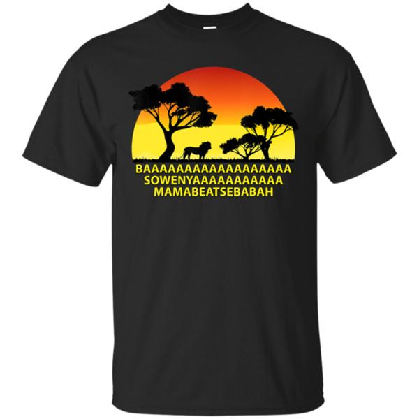 Camiseta Baaa Sowenyaaa African Song King Lion para hombre Talla M-3Xl Brand Clothingtee Shirt