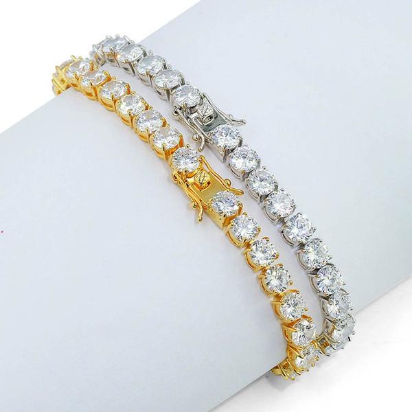Diamond tennis bracelet Luxury Designer Jewelry Women Bracelets iced out Bracelet mens men bangles bangle CZ Chain Hip Hop Link 6mm