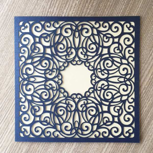 High-end Wedding Invitation Cards Jumbled lines Design With Invitation Cards Apply To Engagements Ceremony Gifts Card