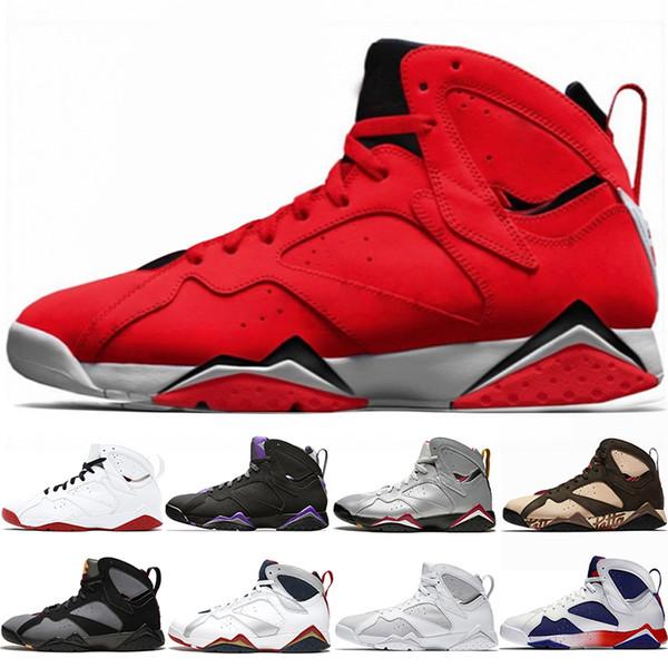 Nike Air Jordan 7 Retro Le plus récent Patta 7s Ray Allen 7 Chaussures de basketball pour hommes Réflexions d'un champion