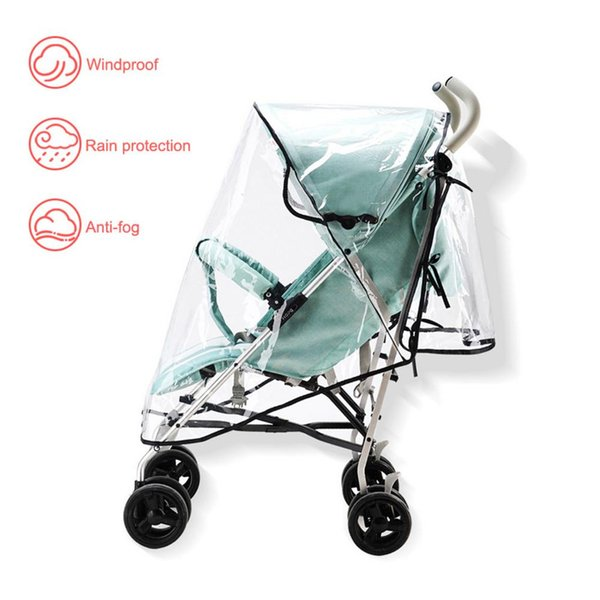 Baby Stroller Universal Baby Travel Cart Rain Cover Windproof Protection Outdoor Use With Air Hole Multi-Functional Ventilation