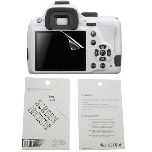 50pcs/lot New Soft Camera screen protection film For Pentax K-1 MARK II K-1 K-3 II K-3 K-5 II K-5 K-30 k-50 k-70 K-R K-S1 MX1