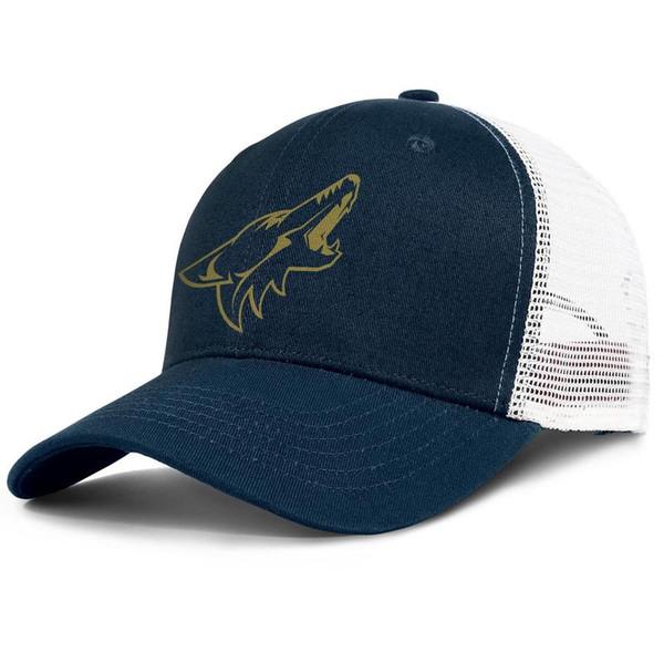Luxo Malha Viseira cap Homens Mulheres-NHL Arizona Coyotes logotipo ouro designer bonés de golfe snapback Ajustável cap Ao Ar Livre