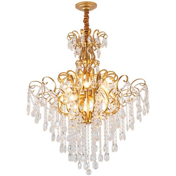 American living room chandelier villa restaurant master bedroom crystal ceiling lamp aisle staircase crystal chandelier