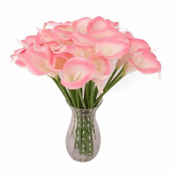 1 stück Künstliche Blumen Hochzeit Dekoration PU Calla Lilie Blumen Bouquets Home Herbst Dekoration Künstliche Pflanzen Gefälschte flores großhandel