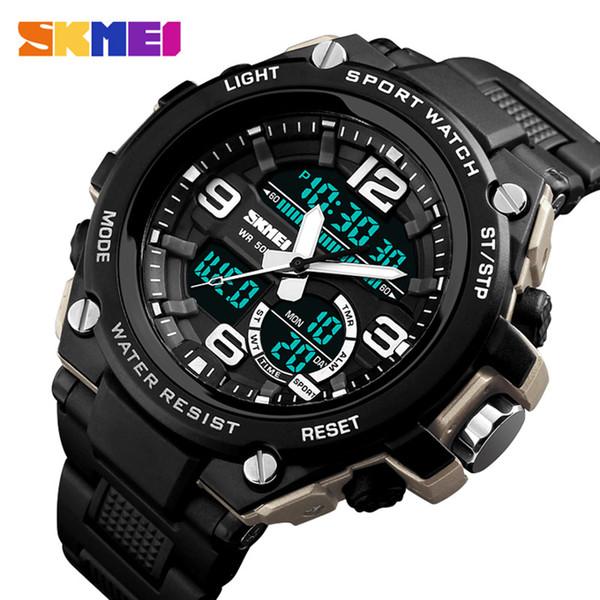 Relogio Masculino Herren Sportuhren Tauchen 50m Digital LED Uhr Männer Casual Elektronik Armbanduhren Uhren SKMEI 2018