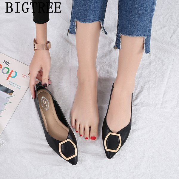 dames mocassins bateau chaussures femmes bout pointu chaussures plates creepers slip on korean style femmes harajuku chaussures confort