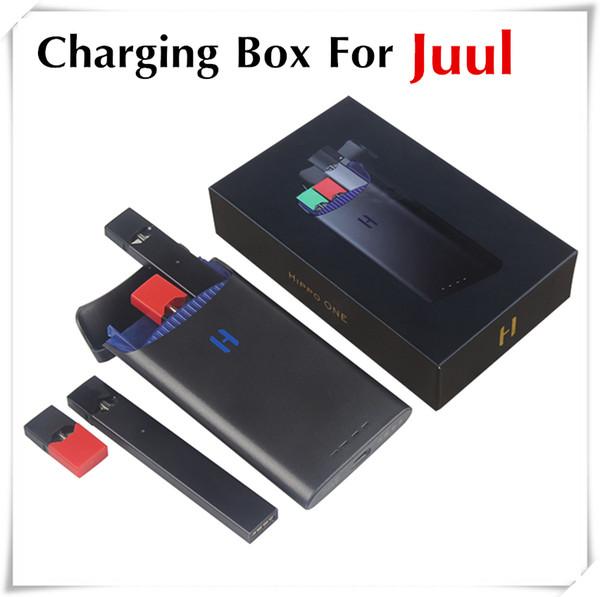 2019 Mais novo 1500 mah Mini Caixa De Carregamento Portátil Carregador Caso Banco De Potência para Juul Pod Cartridge Vaporizador Kits