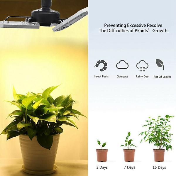 300W LED Grow Light Bulb - com 3 painel ajustável Full Spectrum Lâmpada para plantas de interior, jardim, flores, legumes, Estufa