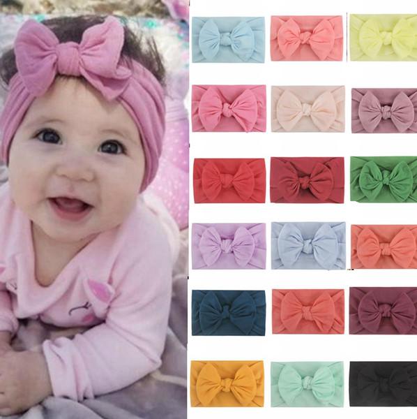 fleur bande de nylon pour cheveux large arc turban les bébés filles bandeaux