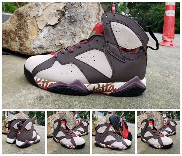 New Patta x 7 7s OG SP Ray Allen Purple Bordeaux Hare Basketball Shoes sports Men 7s GMP Olympic Pure Money Sweater Sneaker