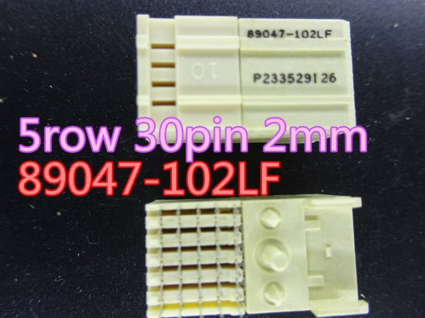 2pcs/lot New 5 row 30pin 2mm spacing adjustment connector 89047-102LF in stock free shipping